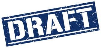 Draft stamp. Draft grunge stamp on white background Stock Images