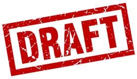 Draft stamp. Draft grunge stamp on white background Stock Photos