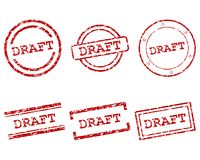 Draft stamps. Detailed and accurate illustration of mraft stamps Stock Photos