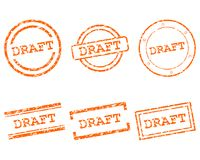 Draft stamps. Detailed and accurate illustration of mraft stamps Stock Photography