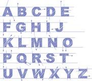 Draft type set. Vector draft type set on white background Stock Photo