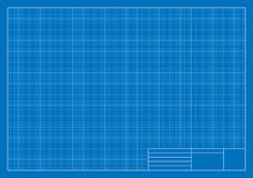Drafting Blueprint, Grid, Architecture. Vector Illustration of a Drafting Blueprint. Best for Architecture, Construction, Backgrounds, Design, Planning Concept Royalty Free Illustration