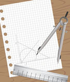 Drafting Equipments Royalty Free Stock Photo