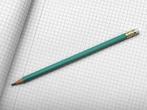 Drafting paper or graph paper with pencil Royalty Free Stock Photography