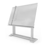 Drafting Table isolated on white Royalty Free Stock Images