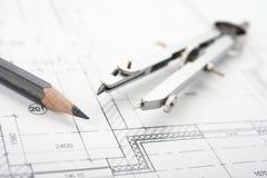 Drafting Tools Royalty Free Stock Image