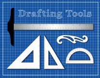 Drafting Tools for Architecture, Engineers, Science, Math, royalty free illustration
