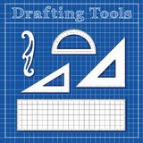 Drafting Tools for Architecture, Engineers, Science Stock Photos