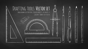 Drafting tools Stock Photo