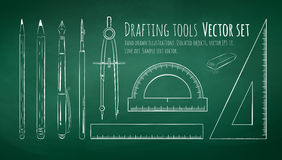 Drafting tools Royalty Free Stock Photography