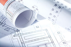Drafts of new house Stock Photography