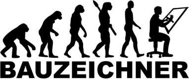Draftsman ewolucja z niemieckim stanowiskiem ilustracja wektor
