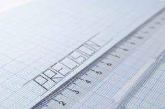 Draftsmanship de la precisión en el papel Fotografía de archivo libre de regalías