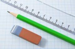 Draftsmanship tools Stock Photo