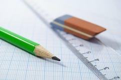 Draftsmanship tools Royalty Free Stock Photo