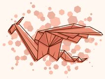Dragão abstrato da ilustração do vetor Imagens de Stock Royalty Free