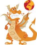 Dragão alaranjado Fotografia de Stock