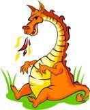 Dragão alaranjado Imagem de Stock