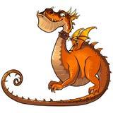 Dragão alaranjado engraçado Foto de Stock