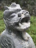 Dragão asiático de pedra Vietname velho Fotografia de Stock