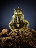 Dragão assustador. fotografia de stock royalty free