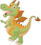 Dragão bonito dos desenhos animados Fotos de Stock Royalty Free