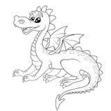 Dragão bonito dos desenhos animados ilustração royalty free