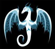 Dragão branco do gelo ilustração royalty free