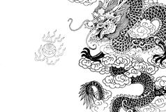 Dragão chinês Imagens de Stock Royalty Free