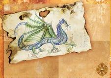 Dragão chinês antigo ilustração do vetor