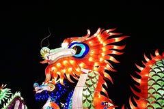 Dragão chinês da luz do ano novo Fotografia de Stock Royalty Free