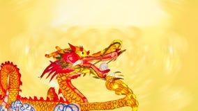 Dragão chinês do ano novo com lanternas fotografia de stock royalty free