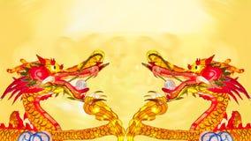 Dragão chinês do ano novo com lanternas fotos de stock