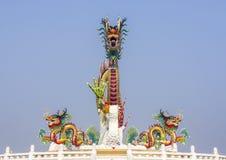 Dragão chinês no céu azul Imagens de Stock Royalty Free