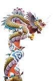 Dragão chinês no fundo do isolado Imagem de Stock Royalty Free
