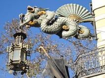 Dragão chinês no Ramblas, Barcelona Imagens de Stock