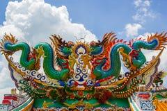 Dragão colorido gêmeo Fotos de Stock