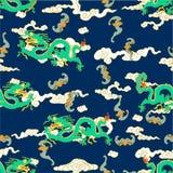 Dragão com nuvens ilustração stock