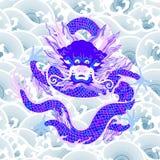 Dragão com ondas ilustração royalty free