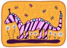 Dragão cor-de-rosa Fotografia de Stock Royalty Free
