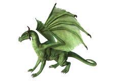 dragão da fantasia da rendição 3D no branco Foto de Stock