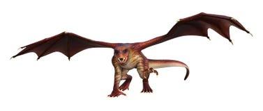 dragão da fantasia da rendição 3D no branco Fotos de Stock