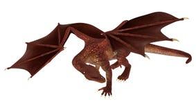Dragão da fantasia no branco Fotos de Stock