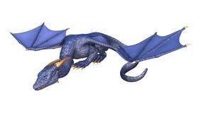 dragão da fantasia da rendição 3D no branco Imagens de Stock Royalty Free
