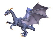 dragão da fantasia da rendição 3D no branco Fotos de Stock Royalty Free
