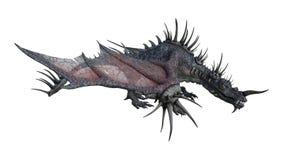dragão da fantasia da rendição 3D no branco Imagem de Stock
