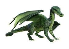dragão da fantasia da rendição 3D no branco Fotografia de Stock Royalty Free