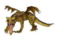 dragão da fantasia da rendição 3D no branco Foto de Stock Royalty Free