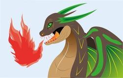 Dragão da terra. ilustração stock