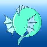 Dragão de água do ícone, vetor ilustração stock